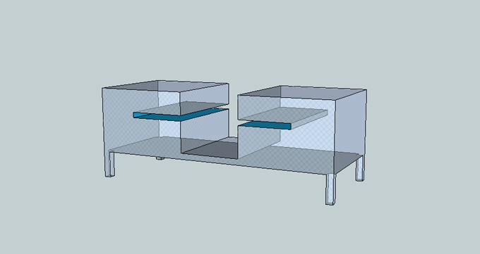 Prototype for a low table by Adèle Houssin
